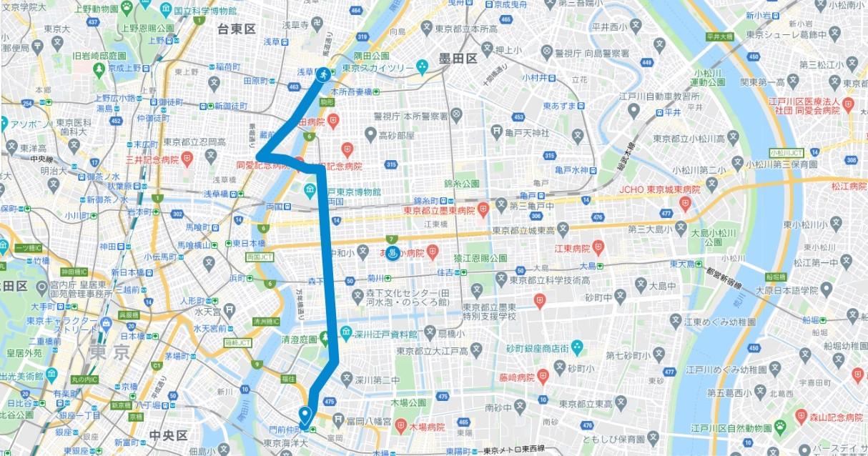 東京マラソンのコースが試走できるランナーズ銭湯(15~20km付近)